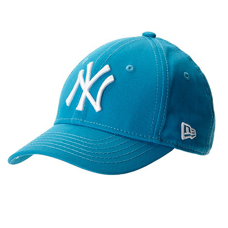 NYC - Boy+s turquoise textured logo embroidered baseball cap