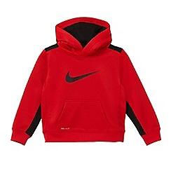 Nike - Boys' red logo print hoodie