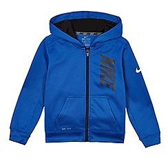 Nike - Boys' blue 'Therma' hoodie