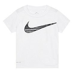 Nike - Boys' white logo print t-shirt