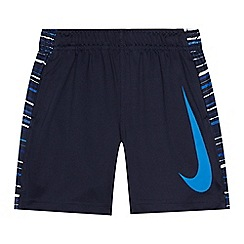 Nike - Boys' navy striped side print shorts