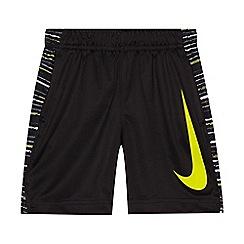 Nike - Boys' black striped side print shorts