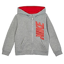 Nike - Boys' grey fleece lined hoodie
