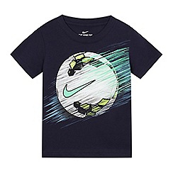 Nike - Boys' navy football print t-shirt