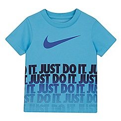 Nike - Boys' blue logo print t-shirt
