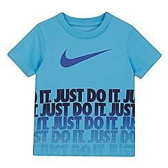 Nike - Boys' blue logo print t-shirt
