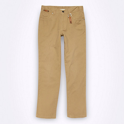 Firetrap - Boy+s taupe twill chinos