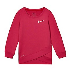 Nike - Girls' pink 'Dri-Fit' top