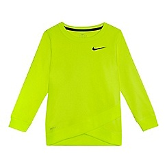 Nike - Girls' lime 'Dri-Fit' top