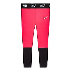 Nike - Girls' pink 'Dri-fit' leggings