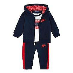 Nike - Baby boys' logo print hoodie, t-shirt and jogging bottoms set