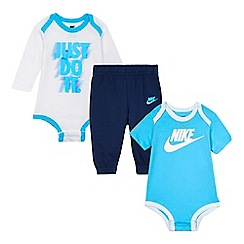 Nike - Baby boys' blue logo print set