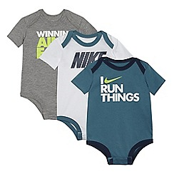 Nike - Pack of three baby boys' printed bodysuits
