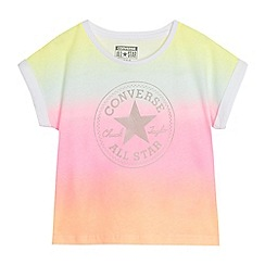 Converse - Girls' multi-coloured ombre logo print t-shirt