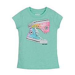 Converse - Girls' green trainer print t-shirt