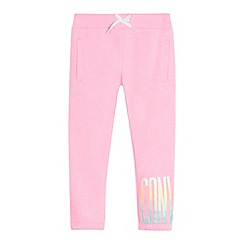 Converse - Girls' pink glitter logo print jogging bottoms
