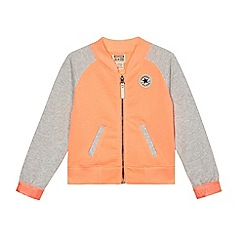 Converse - Girls' orange varsity zip-up jacket