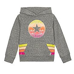 Converse - Girls' grey 'Converse' hoodie