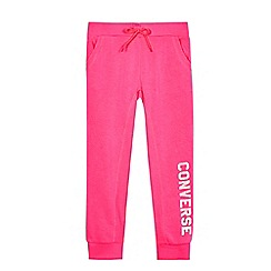 Converse - Girls' neon pink joggers