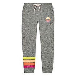 Converse - Girls' grey 'Sunset' striped leg detail jogging bottoms