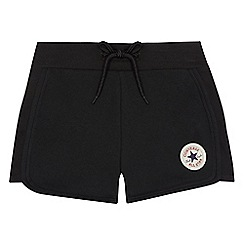 Converse - Girls' black 'Chuck Taylor' sweat shorts