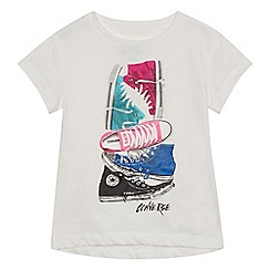 Converse - Girls' white trainer print t-shirt