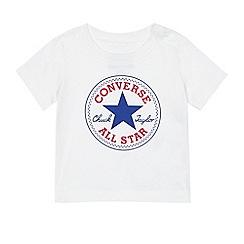 Converse - Baby boys' white logo print t-shirt
