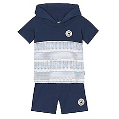 Converse - Baby boys' navy hoodie and shorts set