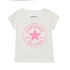 Converse - Baby girls' white logo print t-shirt
