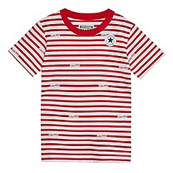 Converse - Boys' red logo striped t-shirt