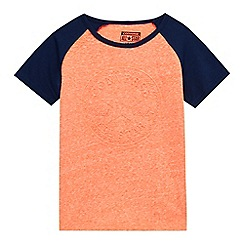 Converse - Boys' orange embossed logo t-shirt