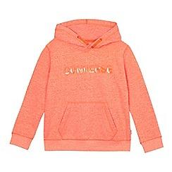 Converse - Boys' orange marl logo hoodie