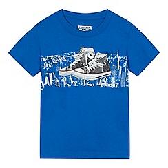 Converse - Boys' blue city trainer print t-shirt