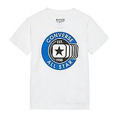 Converse - Boys' white logo print t-shirt