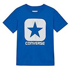Converse - Boys' blue logo print t-shirt