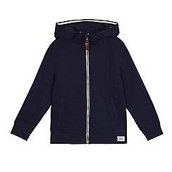 bluezoo - Boys' navy zip through hoodie