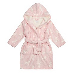 bluezoo - Girls' pink poodle embossed dressing gown