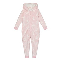 bluezoo - Girls' pink poodle onesie
