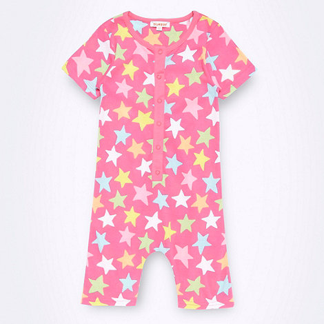 bluezoo - Girl+s pink star printed onesie