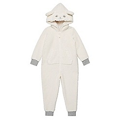 bluezoo - Girls' sheep applique onesie