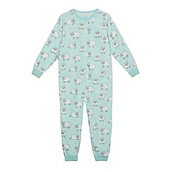 bluezoo - Girls' sheep print onesie