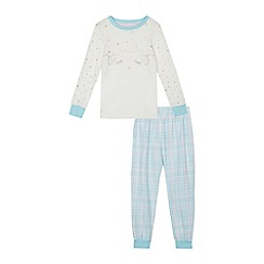 bluezoo - Girls' white sheep print pyjama set