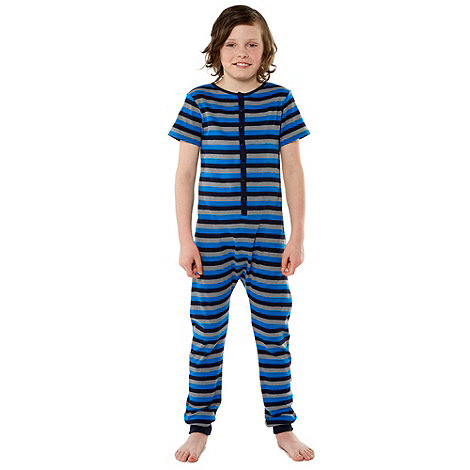 bluezoo - Boy+s blue striped onesie