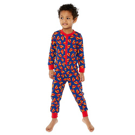 Superman - Boy+s blue +Superman+ onesie