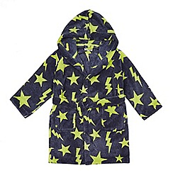 bluezoo - Boys' navy star dressing gown