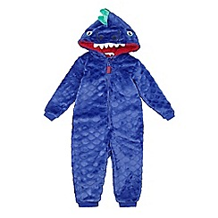 bluezoo - Boys' blue dinosaur onesie