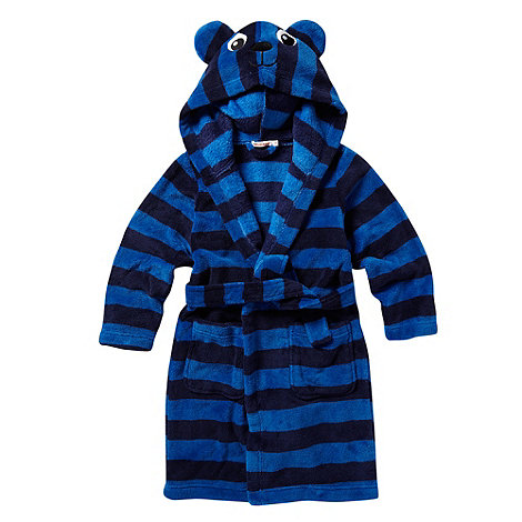 bluezoo - Boy+s blue stripe monkey dressing gown