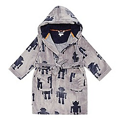 bluezoo - Boys' grey robot dressing gown