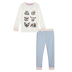 bluezoo - Girls' multi-coloured jersey printed pyjama set
