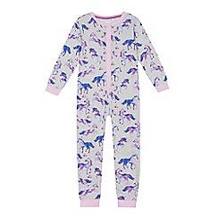 bluezoo - Girls' multi-coloured unicorn print onesie